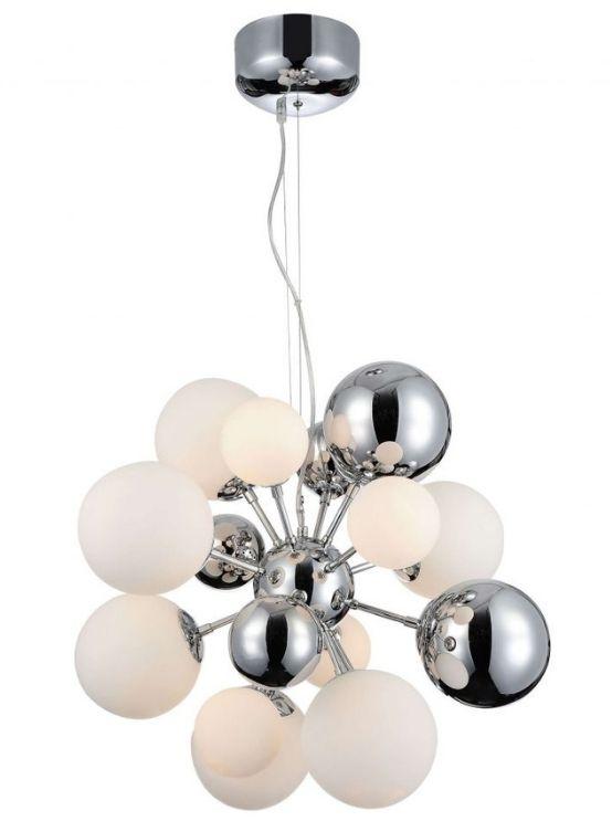 lampadario con sfere a soffitto moderno