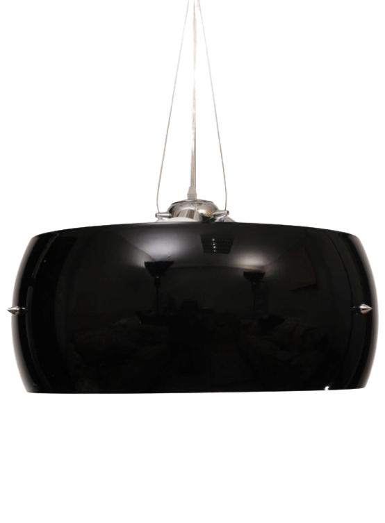 lampada soffitto vetro nero moderna