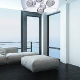 lampada vetro e cristallo luce led per soggiorno moderno di design