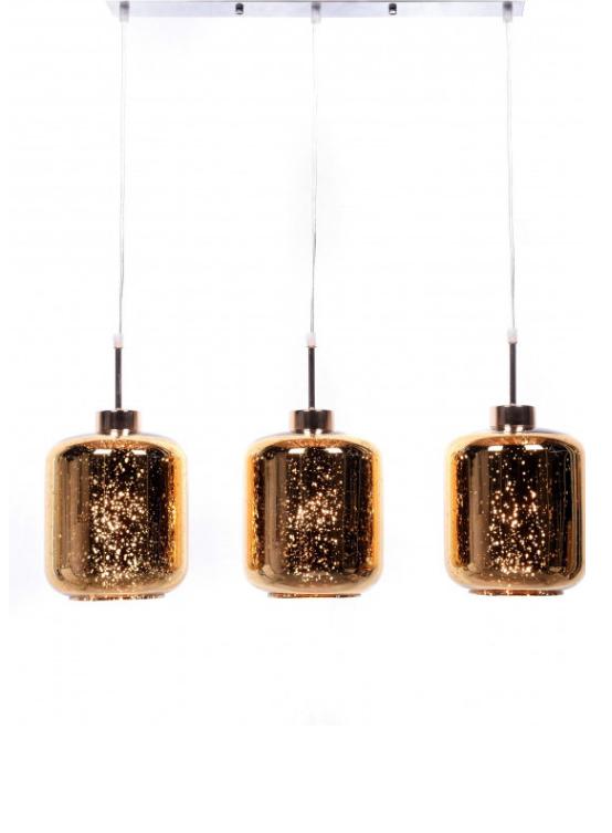 lampada sospensione 3 luci con barra metallo