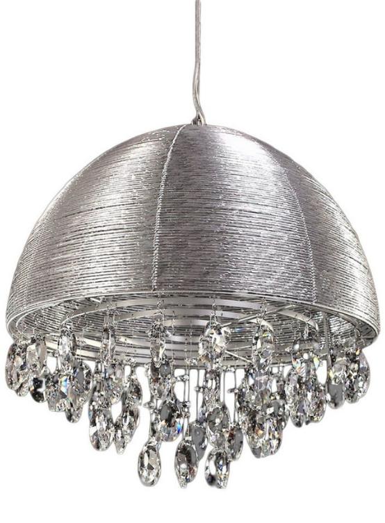 lampada a sospensione argento