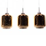 lampada sospensione barattolo vetro 3 luci