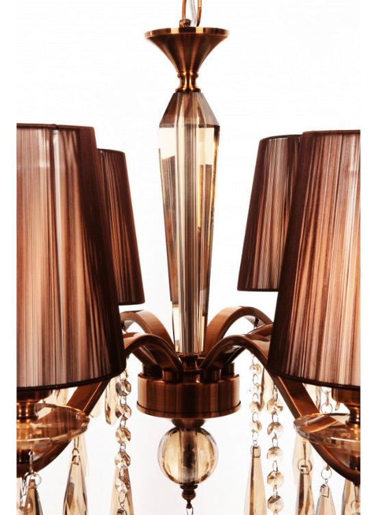 elemento in cristallo lampadario classico 6 luci