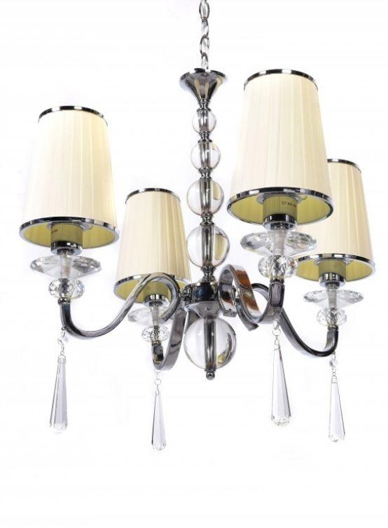 lampada a sospensione classica paralume panna beige 4 luci