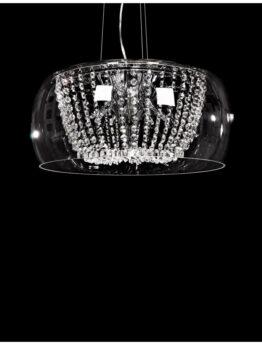 lampada a sospensione cristalli