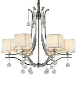 lampadario sospensione elegante con sfere di cristallo linea classica