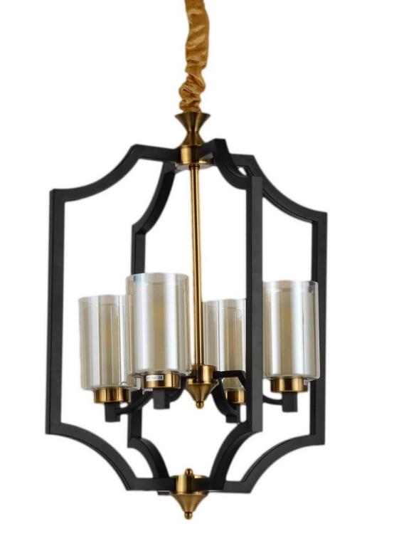 lampada sospensione moderna metallo e ottone