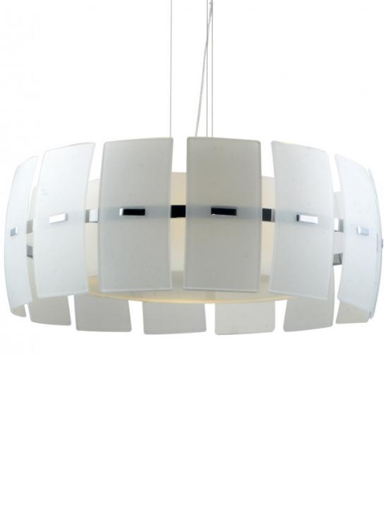 lampada appesa moderna bianca in vetro
