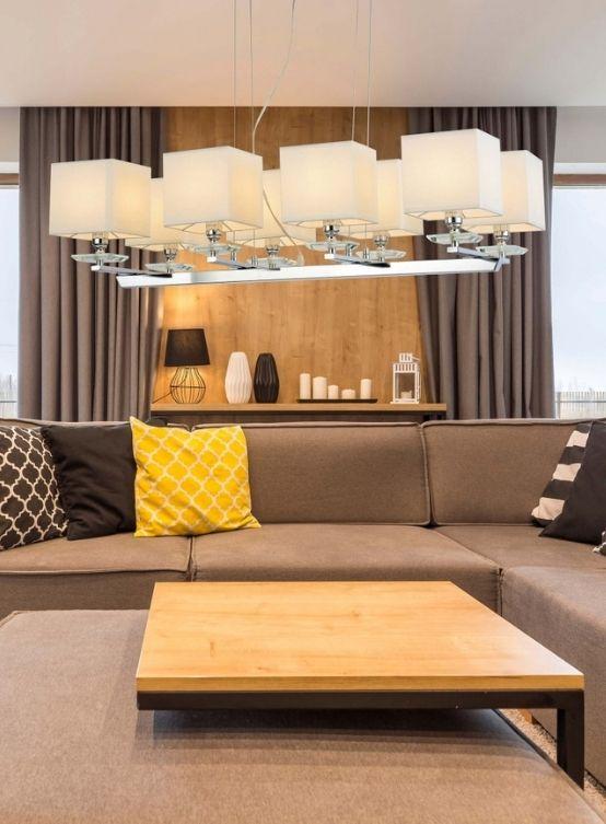 lampada sospensione con paralumi da soggiorno