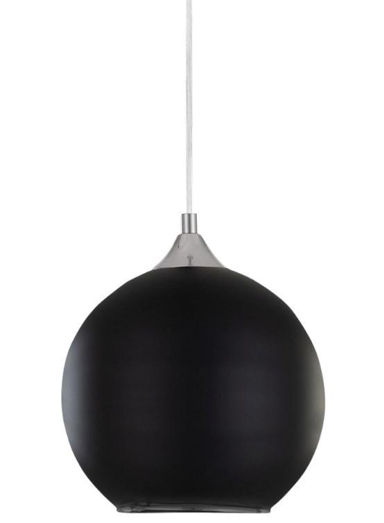 lampada a sospensione sfera nera diametro 30 cm