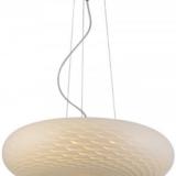 lampada a sospensione in vetro satinato per salotto