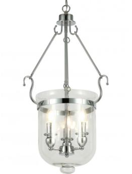lampada a sospensione in vetro trasparente