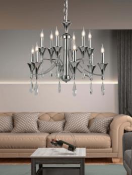 lampadari classici cromati senza paralume