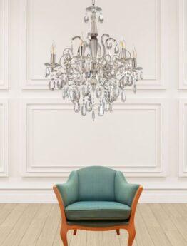 lampadari classici lusso con cristalli molto luminosi
