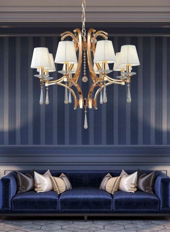 lampadari classici oro 8 luci