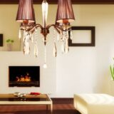 lampadari classici ottone 4 luci a soffitto per salotto