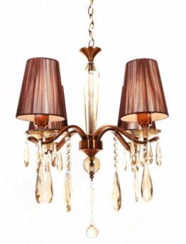 lampadari classici ottone 4 luci a sospensione