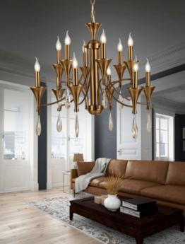 lampadari classici ottone moderno 12 luci