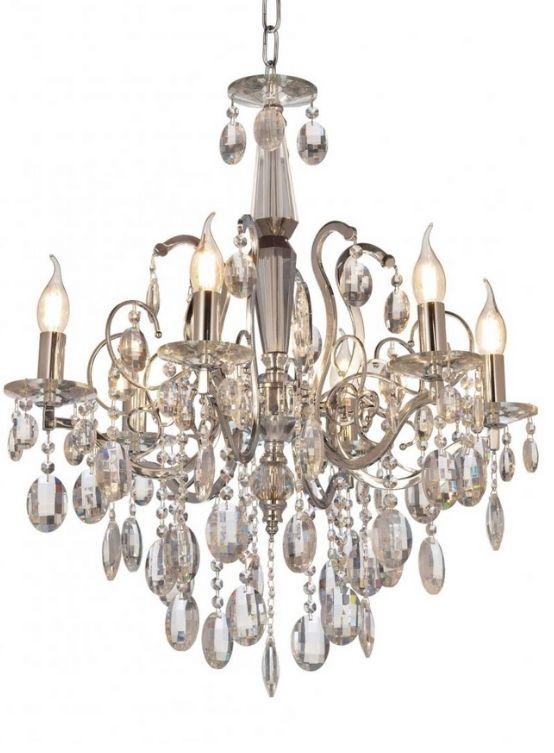 lampadari cristalli candele cromato a sospensione