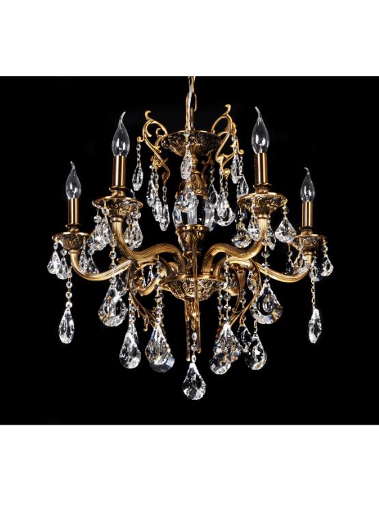 lampadari cristallo ottone classici senza paralume
