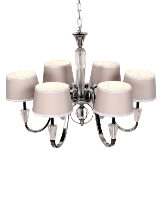 lampadari cristallo salotto struttura cromata 6 luci