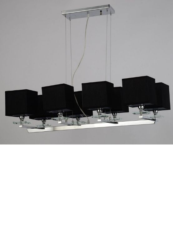 lampadari neri quadrati a sospensione