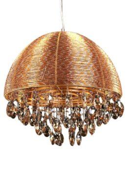 lampadario salone oro con cristalli