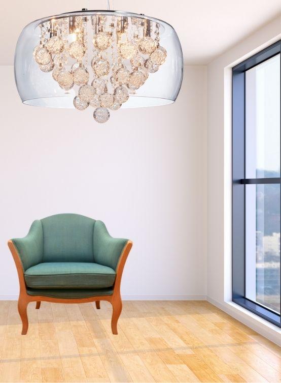 lampadario con cristalli moderno