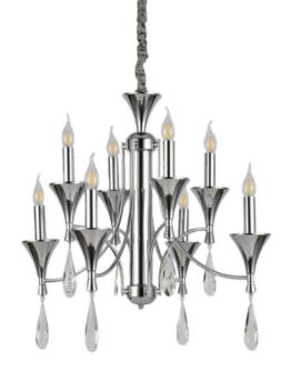lampadari a sospensione classici 8 luci senza paralume