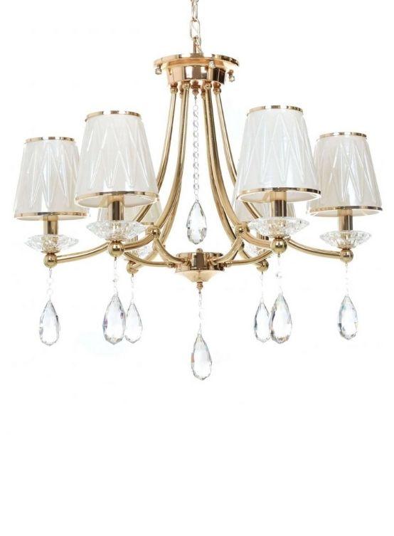 lampadari stile classico cristalli oro vetro bianco