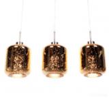 lampadario 3 luci moderno oro