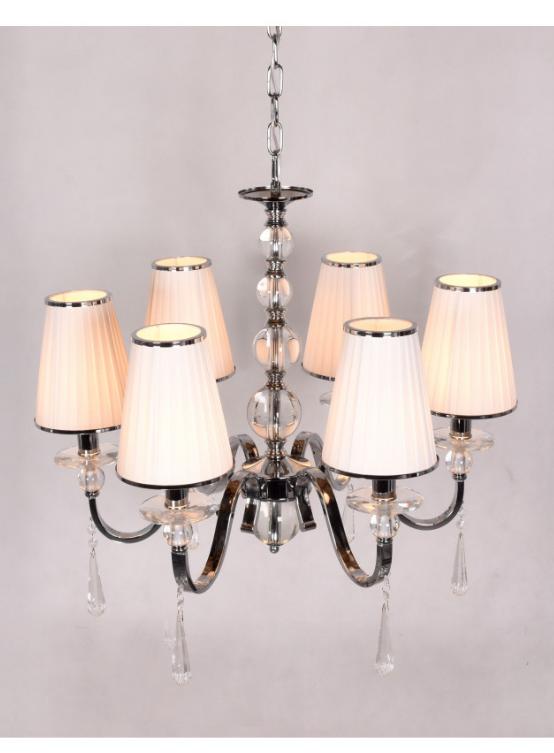lampadario 6 luci colore bianco a soffitto