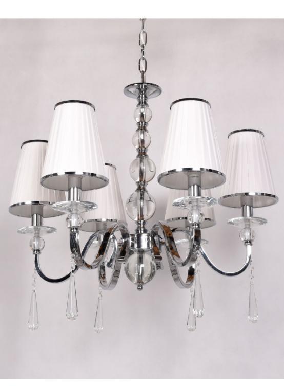 lampadario 6 luci a soffitto colore bianco