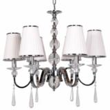 lampadario 6 luci a soffitto con cristalli pendenti