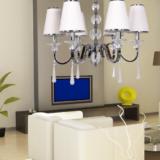 lampadario 6 luci a soffitto da salotto e soggiorno