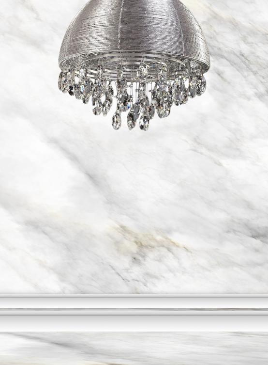 lampadario da abbinare a parete marmo