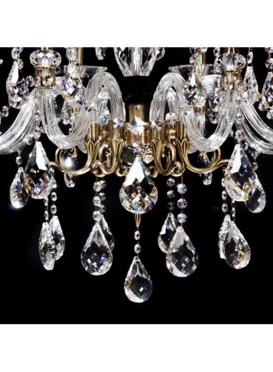 lampadario antico cristallo e ottone