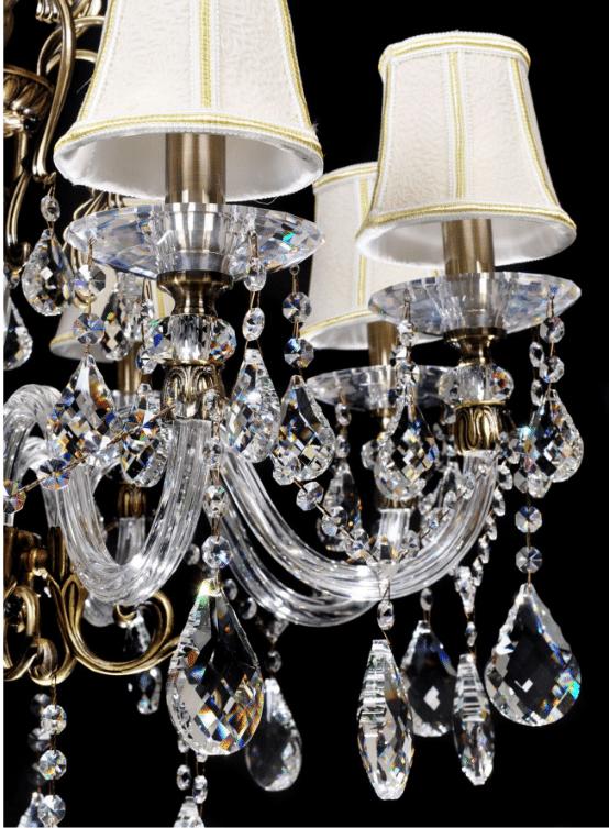 lampadario antico cristallo ottone