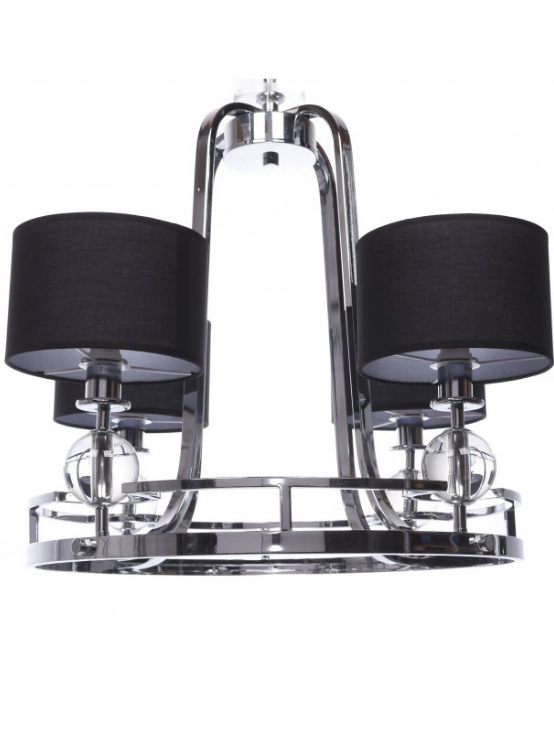 lampadario argento paralumi nero