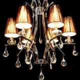 lampadario barocco moderno con cristalli