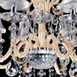 lampadario beige argento classico