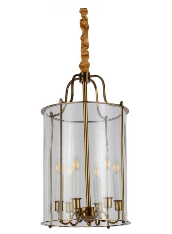 lampadari candele vetro e ottone