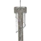 lampadario cascata cristallo molato