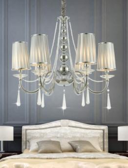 lampadario classico 6 luci a sospensione per camera da letto matrimoniale