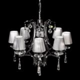 lampadario classico 8 luci con cristalli