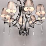 lampadario classico argento 8 luci