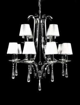 lampadario classico argenti cristalli pendenti