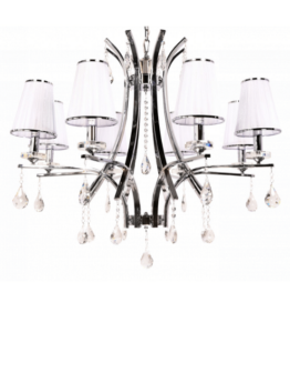 lampadario bianco stile classico glamour