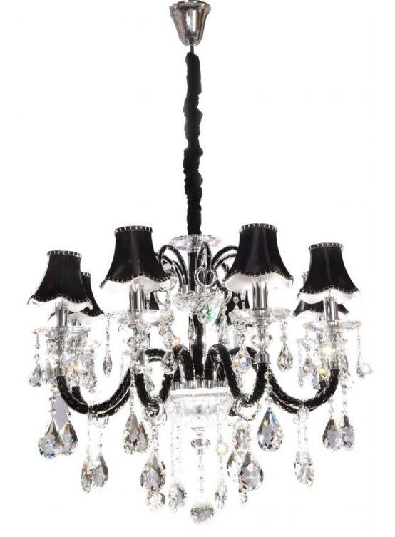 lampadario classico cristallo nero