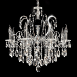 lampadario classico gocce cristallo pendenti danielal
